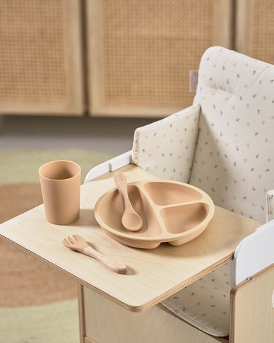 Dienblad voor de Nuun evolutieve stoel in berkenfineer
