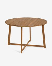 Dafne round garden table in solid acacia, Ø 120 cm FSC 100%