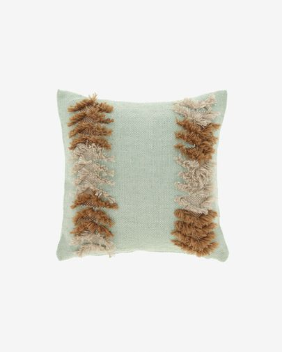 Dalila PET  brown and green patterned cushion cover