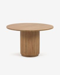 Licia round table made from solid mango wood with natural finish Ø 120 cm