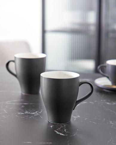 Taza Sadashi de porcelana blanco y negro