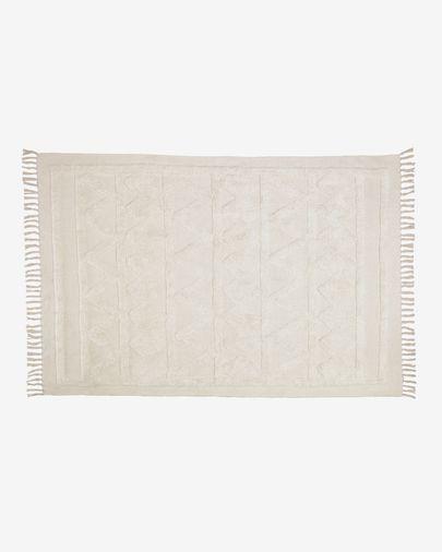 Alfombra Dabria 100% algodón beige 140 x 200 cm