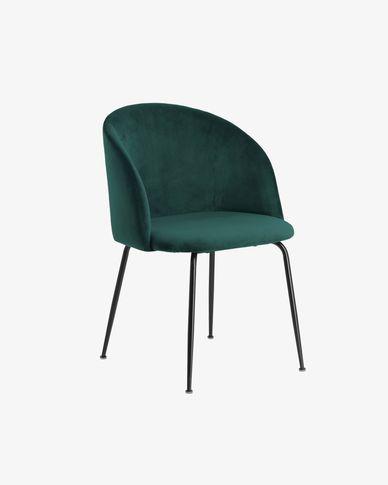 Laudelina stoel fluweel groen