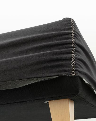 Bed base high Nikos 160 x 200 cm graphite