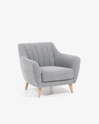 Light grey Obo armchair
