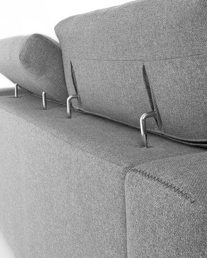 Atlanta hellgraues 3-sitzer Sofa 210 cm