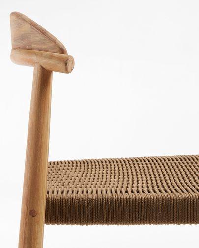 Taburete Nina madera maciza eucalipto altura 76 cm FSC 100%