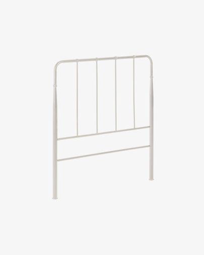 Cabecero Naomy de metal con acabado blanco 98 x 110 cm