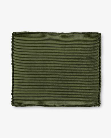 Green corduroy Blok cushion, 50 x 60cm