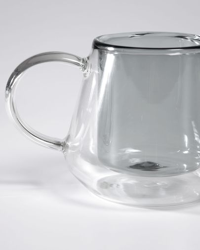 Small Kimey transparent and grey cup