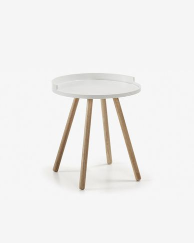 Table d'appoint Kurb Ø 46 cm blanc FSC MIX Credit