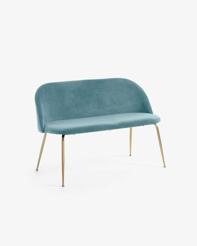 Turquoise velvet Ivonne bench 120 cm