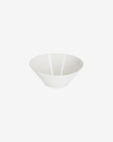 Pierina medium oval porcelain bowl in white