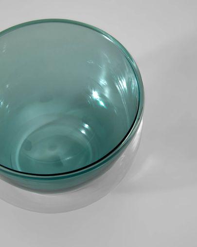 Bol Braulia de vidre vert i transparent
