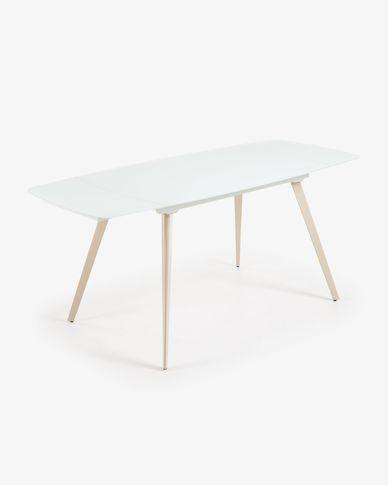 Mesa extensible Smoth 140 (210) x 88 cm blanco