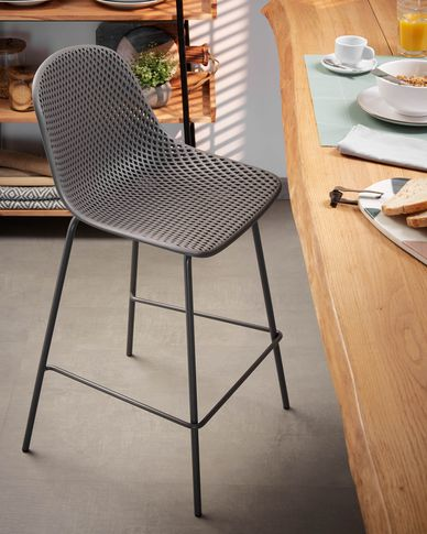 Grey Quinby stool height 65 cm