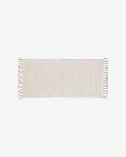 Alfombra Bernabela 100% algodón beige 70 x 140 cm