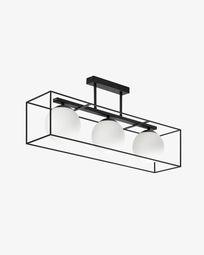 Lámpara de techo Tachi de acero y cristal glaseado