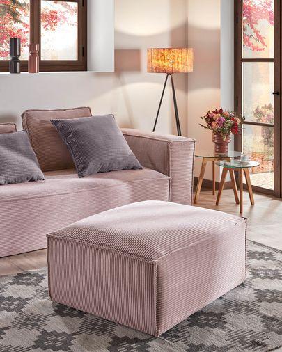 Repousa-pés Blok 90 x 70 cm bombazine rosa