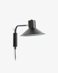 Aria wandlamp metaal klein zwart