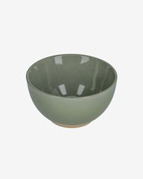 Tilla ceramic bowl in dark green
