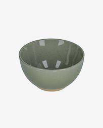 Bol Tilia en céramique vert foncé