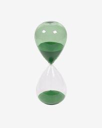 Ampulheta Breshna vidro verde 25 cm