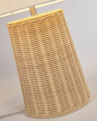 Lampe de table Kimjit en rotin finition naturelle