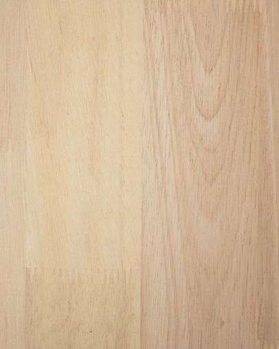 Mesita de noche Wari de madera maciza de caucho 50 x 54 cm