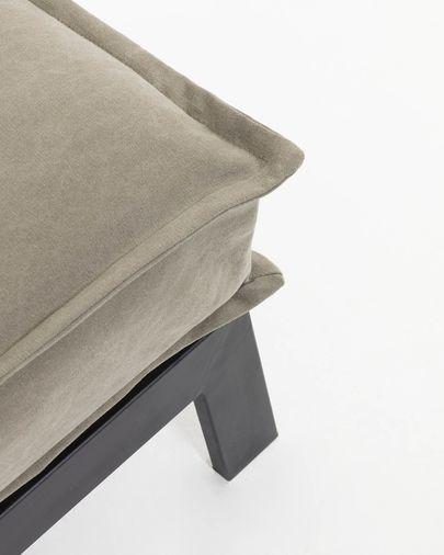 Slaapbank Eveline 195 cm beige metalen structuur