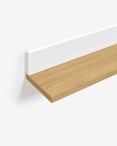 Étagère Abilen contreplaqué de chêne et laqué en blanc 80 x 9 cm FSC 100%