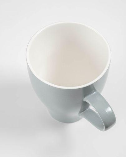 Sadashi porcelain mug in grey and white