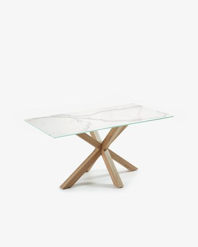 Tavolo Argo 160 cm porcellanato gambe effetto legno