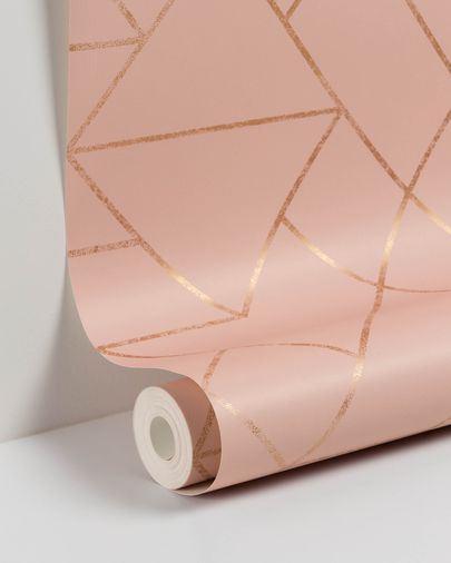 Gea 10 x 0,53 m pink and gold wallpaper