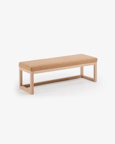 Banqueta Loya corcho claro y madera maciza de haya 128 cm