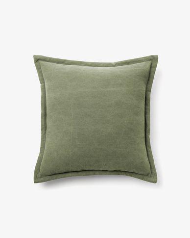 Housse de coussin Lisette 45 x 45 cm vert