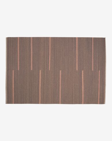Alfombra Caliope de lana y algodón marrón 160 x 230 cm