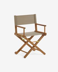 Dalisa solid acacia folding garden chair in green FSC 100%