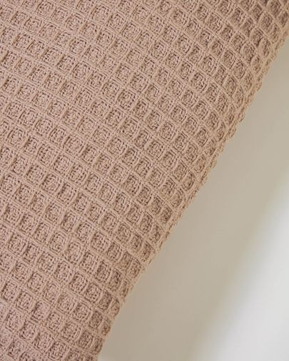 Shallowy 100% cotton cushion cover in pink 30 x 50 cm