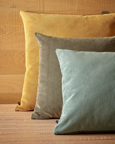 Dark grey corduroy Namie cushion cover 45 x 45 cm