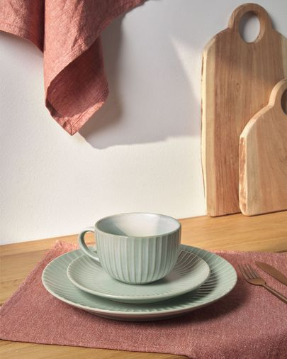 Itziar ceramic cup in green