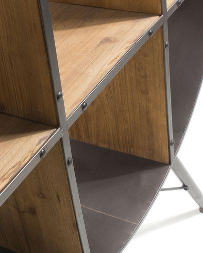 Estante Halie 120 x 152 cm madeira maciça de abeto