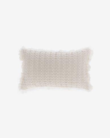 Housse de coussin Shallowin 100% coton blanc de 30 x 50 cm