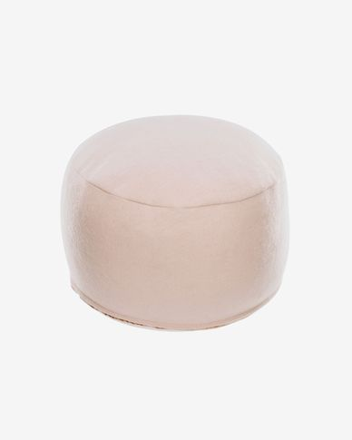 Pufa Flaminia okrągła różowa Ø 45 cm