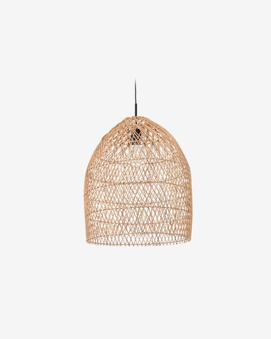 Domitila ceiling light shade in 100% rattan with natural finish Ø 44 cm