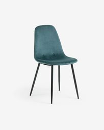 Yaren turquoise velvet chair