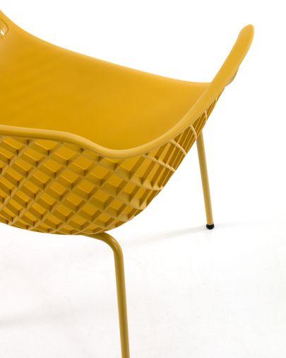 Silla de exterior Quinn amarillo