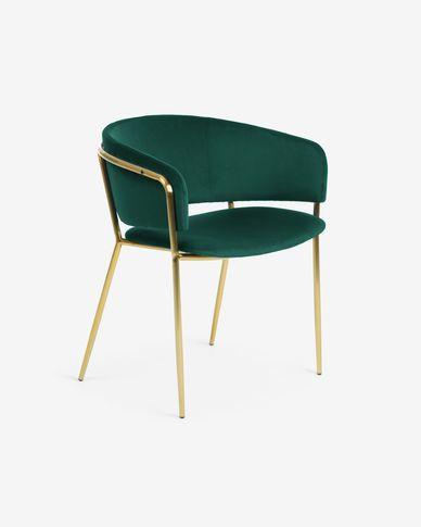 Cadira Runnie de vellut verd