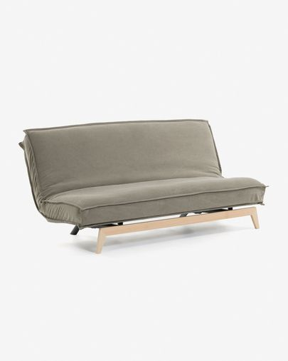 Sofá cama Eveline 195 cm beige estructura madera