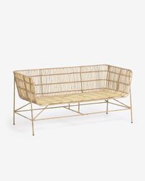 Aiala two-piece rattan sofa, 140 cm